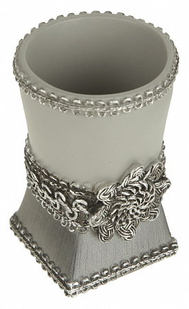 Фото Стакан Avanti Braided Medallion Silver на tiptop-shop.ru